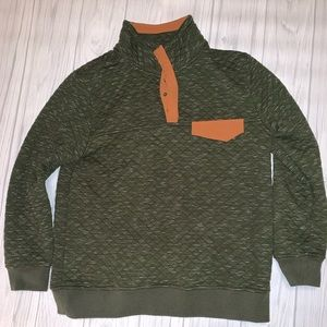 Green Button Up Pullover Boutique Brand